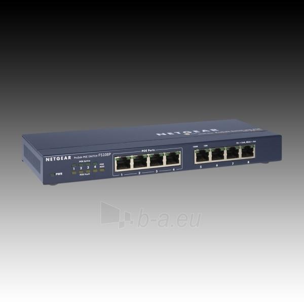 Tinklo komutatorius NETGEAR FS108P Retail Paveikslėlis 3 iš 4 250257600853