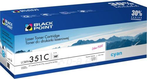 Toneris Black Point LCBPH351C | cyan | 1350 pp. | HP CF351A Paveikslėlis 1 iš 1 310820044536