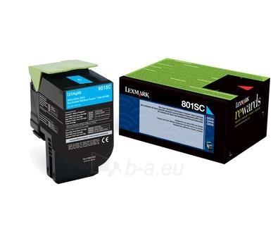 Toneris Lexmark 802SC cyan| return | 2000 pgs| CX310dn / CX310n / CX410de / CX41 Paveikslėlis 1 iš 1 2502560201276