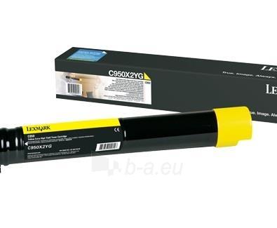 Toneris Lexmark yellow | 22 000 pgs| C950 Paveikslėlis 1 iš 1 310820044378