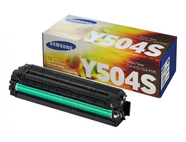 Toneris Samsung Yellow CLT-Y504S 1800str Paveikslėlis 1 iš 1 2502560202042