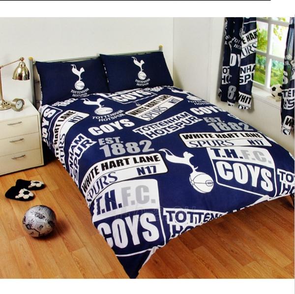 Tottenham Hotspur F.C. dvigulės patalynės komplektas (logo) Paveikslėlis 1 iš 2 251009001351