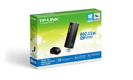 TP-Link Archer T4U adapter USB Wireless AC1200 2.4GHz, 5GHz Paveikslėlis 2 iš 3 250257100445