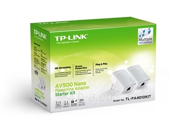 TP-Link TL-PA4010 AV500 Nano Powerline Ethernet Adapter Starter Kit Paveikslėlis 2 iš 3 250257600891