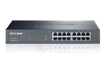 TP-Link TL-SG1016D Switch Rack 16x10/100/1000Mbps Paveikslėlis 1 iš 1 250257501235