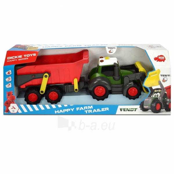 Traktorius su priekaba | Happy Farm Trailer | Dickie Paveikslėlis 2 iš 9 310820157131