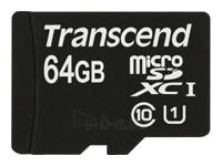 TRANSCEND 64GB MicroSDXC Cl10 UHS-1 w/ad Paveikslėlis 1 iš 1 250255121903