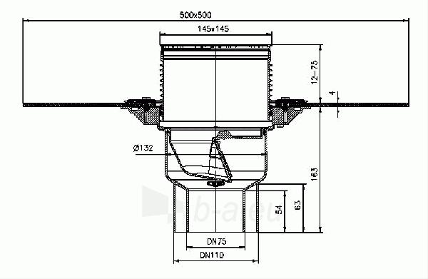 Trapas balkonams ir terasoms HL3100TH, kaip ir HL3100T, tik su bituminiu lakštu Paveikslėlis 2 iš 2 310820253585