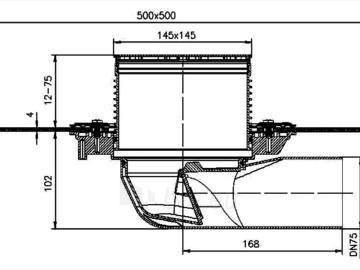 Trapas balkonams ir terasoms HL5100TH kaip ir HL5100T, tik su bituminiu lakštu Paveikslėlis 2 iš 2 310820253582
