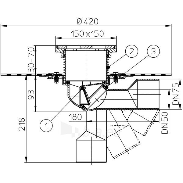 Trapas balkonams ir terasoms HL81GH kaip ir HL81G, tik su bituminiu lakštu Paveikslėlis 2 iš 2 310820253578