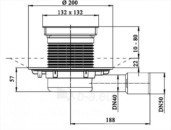 Trapas balkonams ir terasoms HL90.2 Paveikslėlis 2 iš 2 310820253580