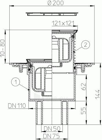 Trapas HL310NPr-3000 su sausu sifonu Primus ir nerūdijančio plieno porėmiu Paveikslėlis 2 iš 2 310820253557