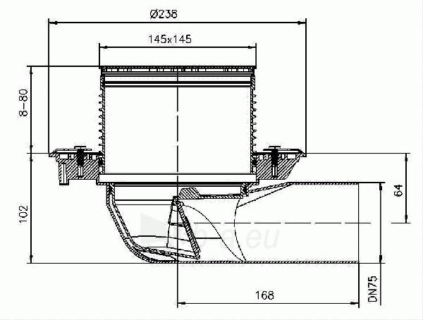 Trapas HL5100T balkonams ir terasoms su neužšąlančiu sifonu Paveikslėlis 2 iš 2 310820253581