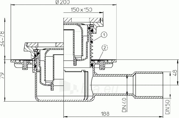Trapas HL510NG su ketaus grotelėmis ir porėmiu Paveikslėlis 2 iš 2 310820253568