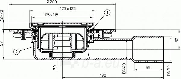 Trapas mažo aukščio korpusu HL90Pr su sausu sifonu Primus Paveikslėlis 2 iš 2 310820253571