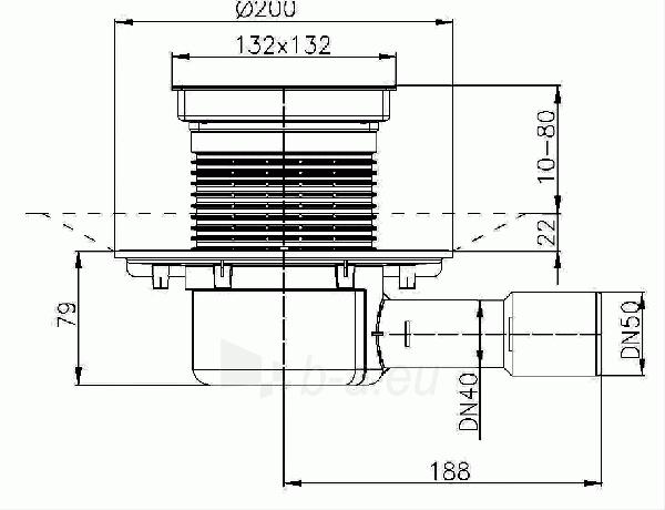 Trapas vidaus patalpoms HL510N-3020 su elementu keraminių plytelių įklijavimui Paveikslėlis 2 iš 2 310820253566