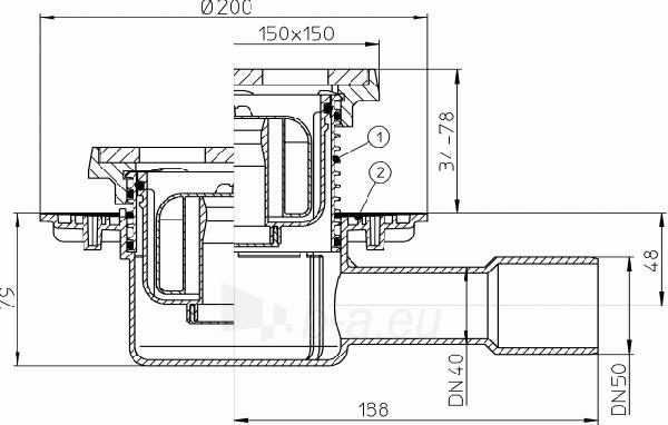 """Trapas vidaus patalpoms HL510NPrG kaip ir HL510NG, tik su """"sausu"""" sifonu Primus Paveikslėlis 2 iš 2 310820253569"""