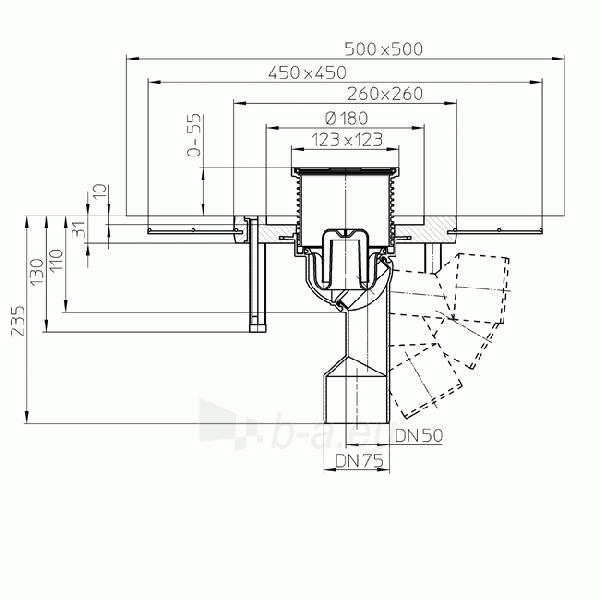 Trapas vidaus patalpoms HL80.1C su polimerbetonio gembe Paveikslėlis 2 iš 2 310820253545