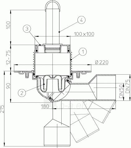 Trapas vidaus patalpoms HL80.2 su perpylimo vamzdeliu Paveikslėlis 2 iš 2 310820253548