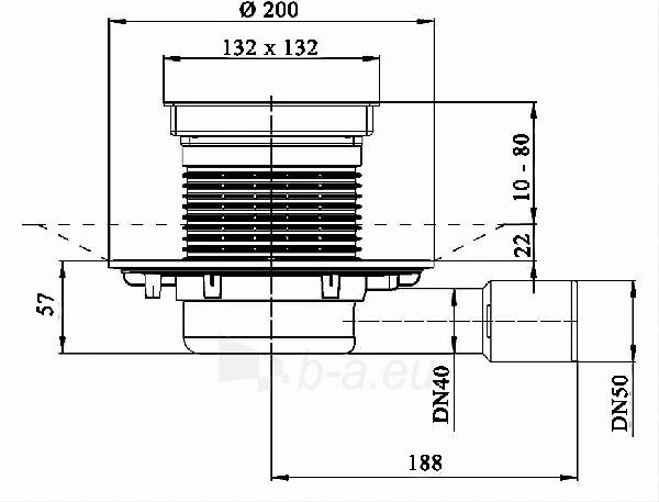 Trapas vidaus patalpoms HL90Pr-3020, žemo aukščio Paveikslėlis 2 iš 2 310820253573