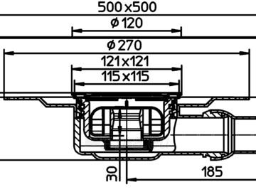 Trapas vidaus patalpoms HL90PrD-3000 kaip ir HL90PrD, tik su nerūdijančio plieno porėmiu Paveikslėlis 2 iš 2 310820253590