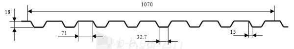 Trapecinio profilio skarda 18ST/SN (PUR) plytų imitacija Paveikslėlis 2 iš 2 310820038376