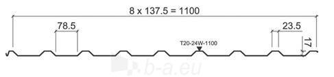 Trapezoidal profilie Ruukki T20 Zn Paveikslėlis 2 iš 3 237110300066