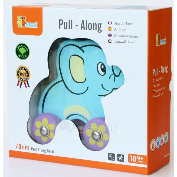 Traukiamas medinis drambliukas | Pull - Along Elephant | Viga 50091 Paveikslėlis 2 iš 2 310820186209