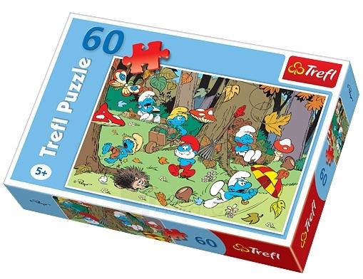Dėlionė TREFL 17202 Puzzle Smurfs 60 det. Paveikslėlis 1 iš 1 250710100049