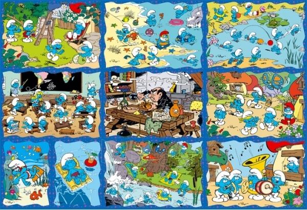 TREFL 90169 Puzzle SMURFAI 10 in 1 Paveikslėlis 1 iš 2 250710100132