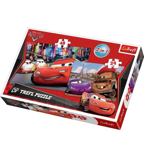TREFL Puzzle CARS 2 dvi vienoje (34102) 24 + 48 det. Paveikslėlis 1 iš 1 250710100135