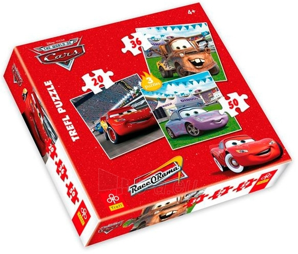 TREFL Puzzles 34036 CARS 3 in1 (20, 36 ir 50 det.) Paveikslėlis 1 iš 1 250710100187