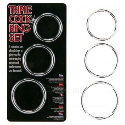 Trigubas penio žiedas Paveikslėlis 1 iš 1 25140304000034