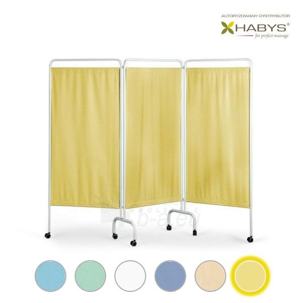 Trijų dalių širma HABYS Parawan Standard III Yellow Paveikslėlis 1 iš 1 310820205703