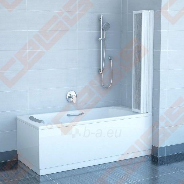 Trijų dalių sulankstoma vonios sienelė RAVAK VS5 114 su baltos spalvos profiliu ir plastiko Rain užpildu Paveikslėlis 2 iš 3 270717001174
