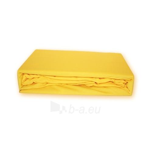 Trikotažinė paklodė su guma (Geltona), 180x200 cm Paveikslėlis 1 iš 1 30115600025