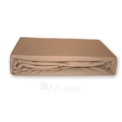 Trikotažinė paklodė su guma (Kreminė), 180x200 cm Paveikslėlis 1 iš 1 30115600027