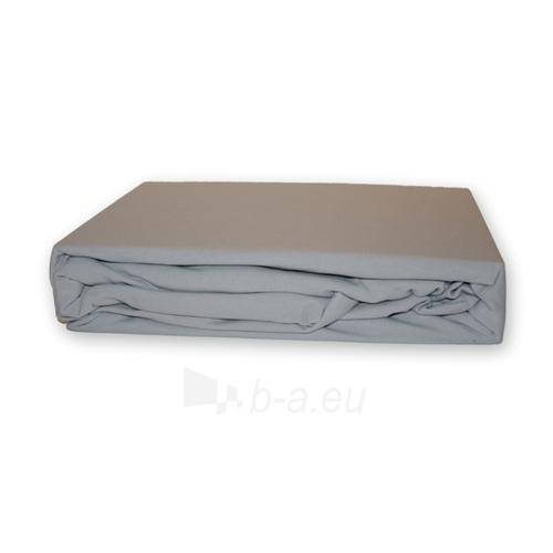 Trikotažinė paklodė su guma (Pilka), 180x200 cm Paveikslėlis 1 iš 1 30115600031