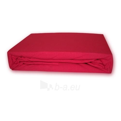 Trikotažinė paklodė su guma (Raudona), 160x200 cm Paveikslėlis 1 iš 1 30115600032