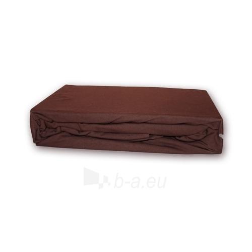 Trikotažinė paklodė su guma (Ruda), 180x200 cm Paveikslėlis 1 iš 1 30115600039