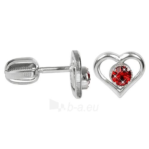 Troli sidabriniai auskarai su kristalais 438 001 00812 04 - červené Paveikslėlis 1 iš 1 310820024395