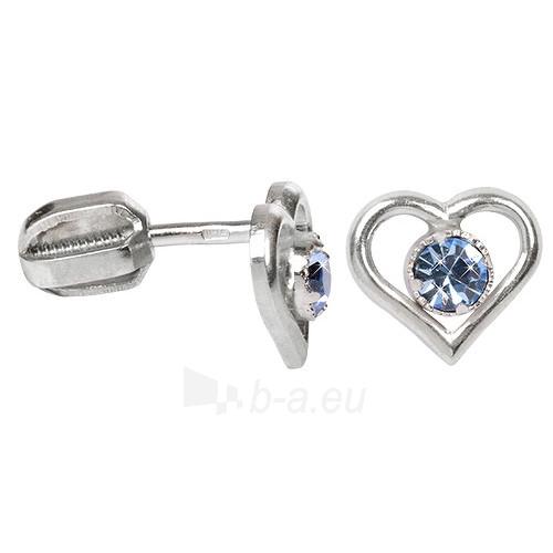 Troli sidabriniai earrings with Crystals 438 001 00812 04 - světlé modré Paveikslėlis 1 iš 1 310820024396