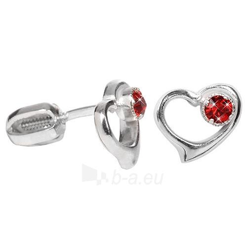 Troli sidabriniai earrings with Crystals 438 001 00931 04 - červené Paveikslėlis 1 iš 1 310820024391