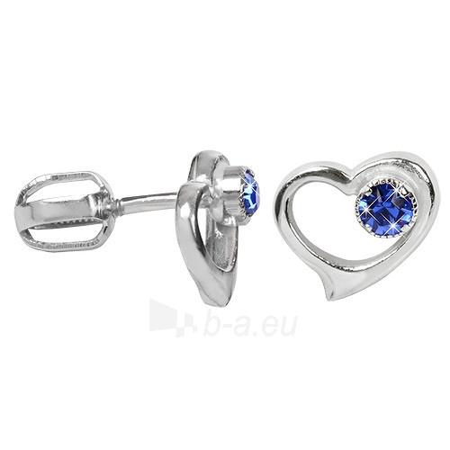 Troli sidabriniai auskarai su kristalais 438 001 00931 04 - modré Paveikslėlis 1 iš 1 310820024392