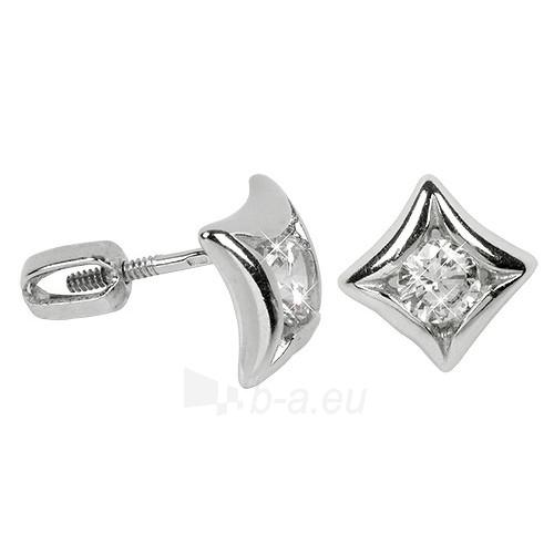 Troli Stříbrné náušnice s krystaly 436 001 00236 04 Paveikslėlis 1 iš 1 310820004855