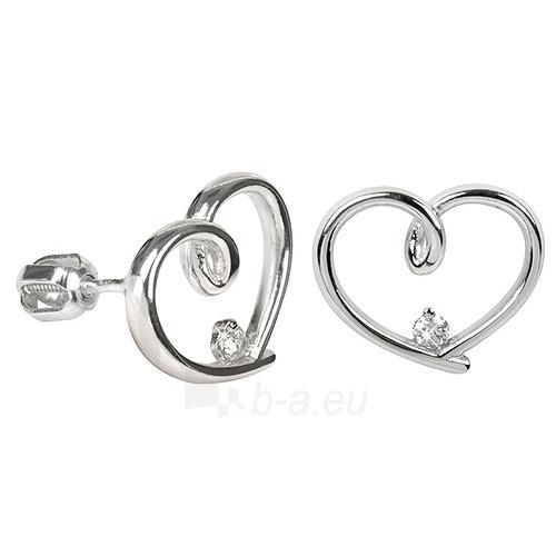 Troli Stříbrné náušnice srdce s krystalem 436 001 00292 04 Paveikslėlis 1 iš 1 310820004860