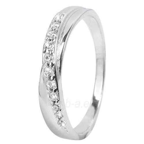 Troli Stříbrný prsten s krystaly 426 154 00380 (Dydis: 54 mm) Paveikslėlis 1 iš 2 310820005092