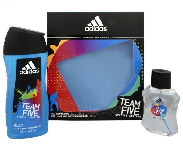 Tualetinis vanduo Adidas Team Five EDT 50 ml (Rinkinys) Paveikslėlis 1 iš 1 2508120002880