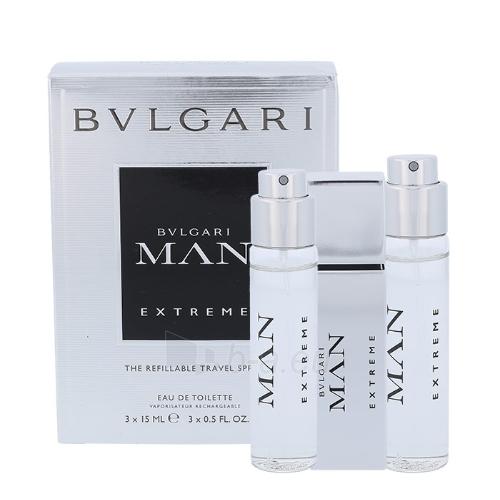 eau de toilette Bvlgari MAN Extreme EDT 3x15ml Paveikslėlis 1 iš 1 310820042569
