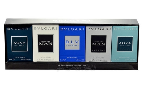 Tualetes ūdens Bvlgari Mini set For Men EDT 5x5ml Paveikslėlis 1 iš 1 2508120002324